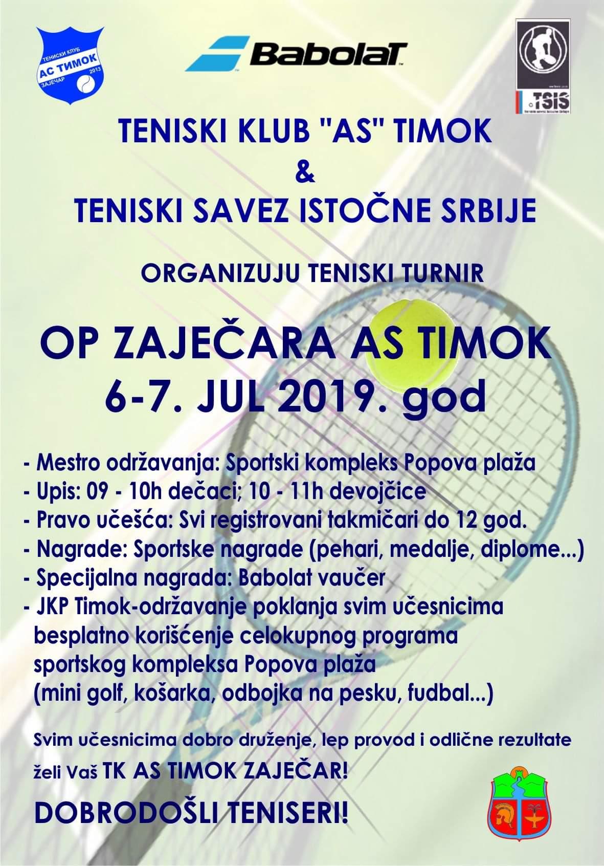 OP Zaječara AS Timok 6-7. jul 2019. god